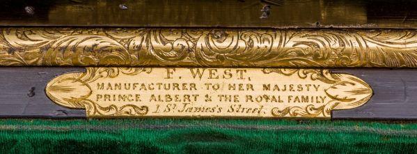 Ladys-dressing-vanity-case-F-West-antique-ebony-silver-gilt-coronet-royalty-737_10Mar14_5848
