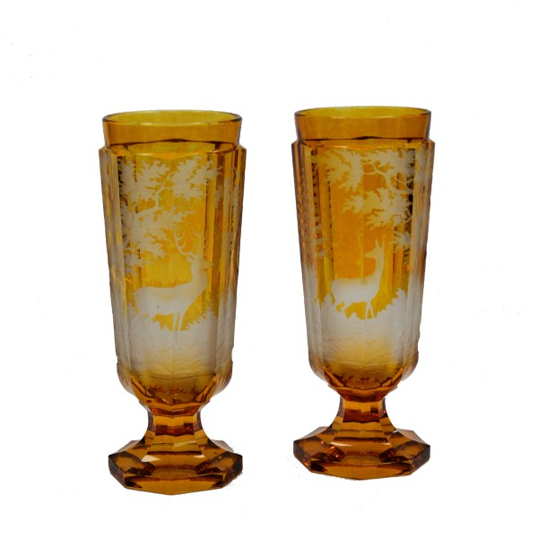 Pair-bohemian-glass-vases-engraved-stags-antique-DSC_7456