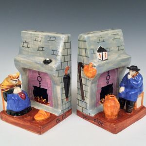 PAIR OF QUIMPER FIGURES BY ANDRE GALLAND