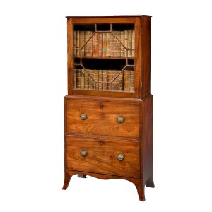 ANTIQUE GEORGE III MAHOGANY DISPLAY CABINET