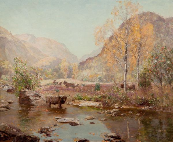 SIR DAVID MURRAY OIL PAINTING LANDSCAPE GLEN