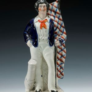ANTIQUE STAFFORDSHIRE CRIMEAN SAILOR FIGURE
