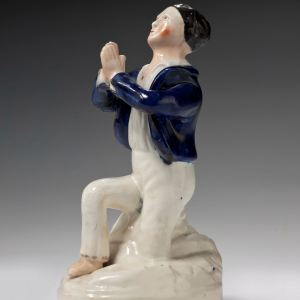 ANTIQUE STAFFORDSHIRE FIGURE OF MADAME VESTRIS