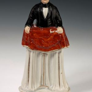 ANTIQUE STAFFORDSHIRE FIGURE OF REVEREND EDWARD COULBURN