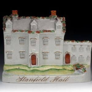 ANTIQUE STAFFORDSHIRE FIGURE OF STANFIELD HALL