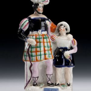 ANTIQUE STAFFORDSHIRE FIGURE OF WILLIAM TELL