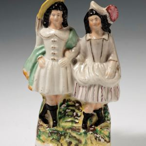 ANTIQUE STAFFORDSHIRE FIGURE OF THE POLKA
