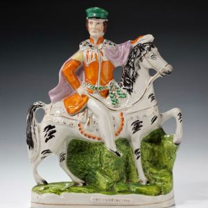 ANTIQUE STAFFORDSHIRE FIGURE OF GENERAL SIR WILLIAM CODRINGTON