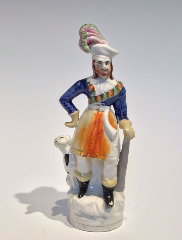 ANTIQUE STAFFORDSHIRE FIGURE OF A MAN