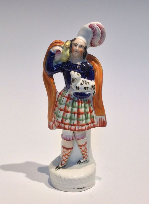 ANTIQUE VICTORIAN STAFFORDSHIRE SCOTTISH FIGURE