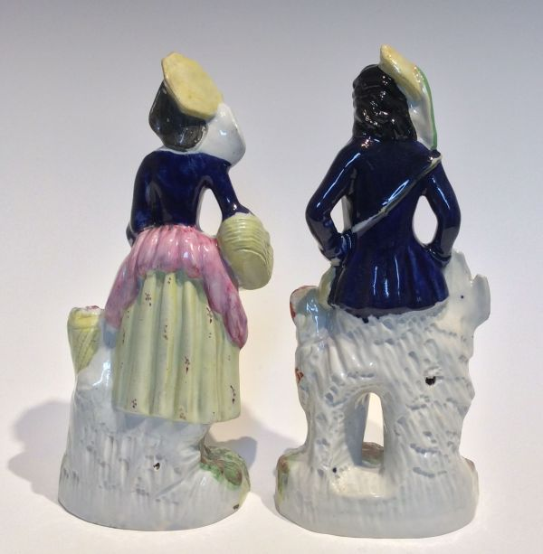 Staffordshire-pair-figures-man-woman-dog-Victorian-antique-5615_1_5615