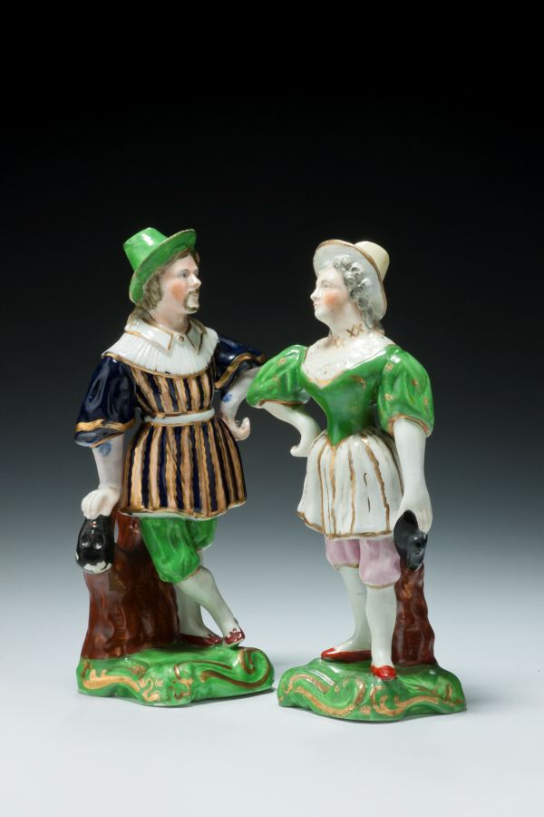 ANTIQUE STAFFORDSHIRE THEATRICAL FIGURES