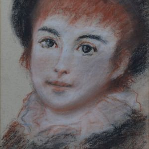 TOM KEATING PASTEL YOUNG BOY PIERRE AUGUSTE RENOIR