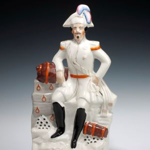 ANTIQUE STAFFORDSHIRE FIGURE OF EMPEROR NAPOLEON