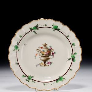 ANTIQUE WORCESTER PORCELAIN PLATE PAINTED BY JAMES GILES