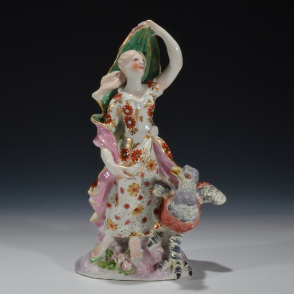 ANTIQUE BOW PORCELAIN FIGURE OF AIR