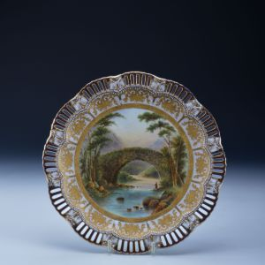 ANTIQUE COALPORT PLATE