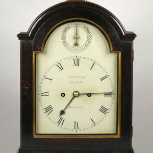 ANTIQUE BRACKET CLOCK BY WEBSTER CORNHILL LONDON
