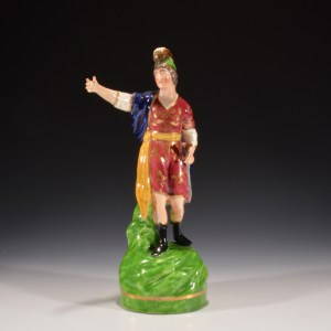 ANTIQUE DUDSON STAFFORDSHIRE FIGURE