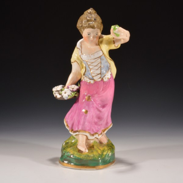 ANTIQUE DUDSON STAFFORDSHIRE FIGURE OF SPRING