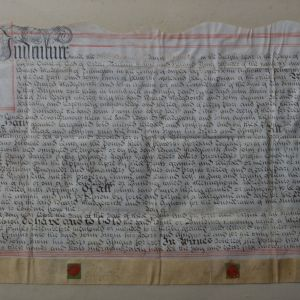 ANTIQUE 18TH CENTURY FRAMED LEGAL DOCUMENT