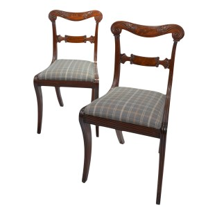 SET OF EIGHT ANTIQUE REGENCY MAHOGANY DINING CHAIRS