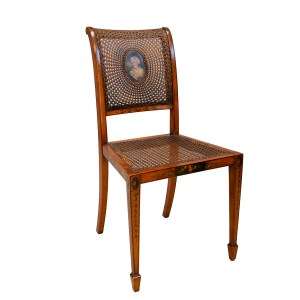 SHERATON REVIVAL 'SATINWOOD' SIDE CHAIR