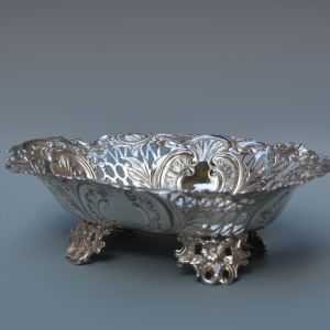 ANTIQUE SILVER SWEETMEAT DISH