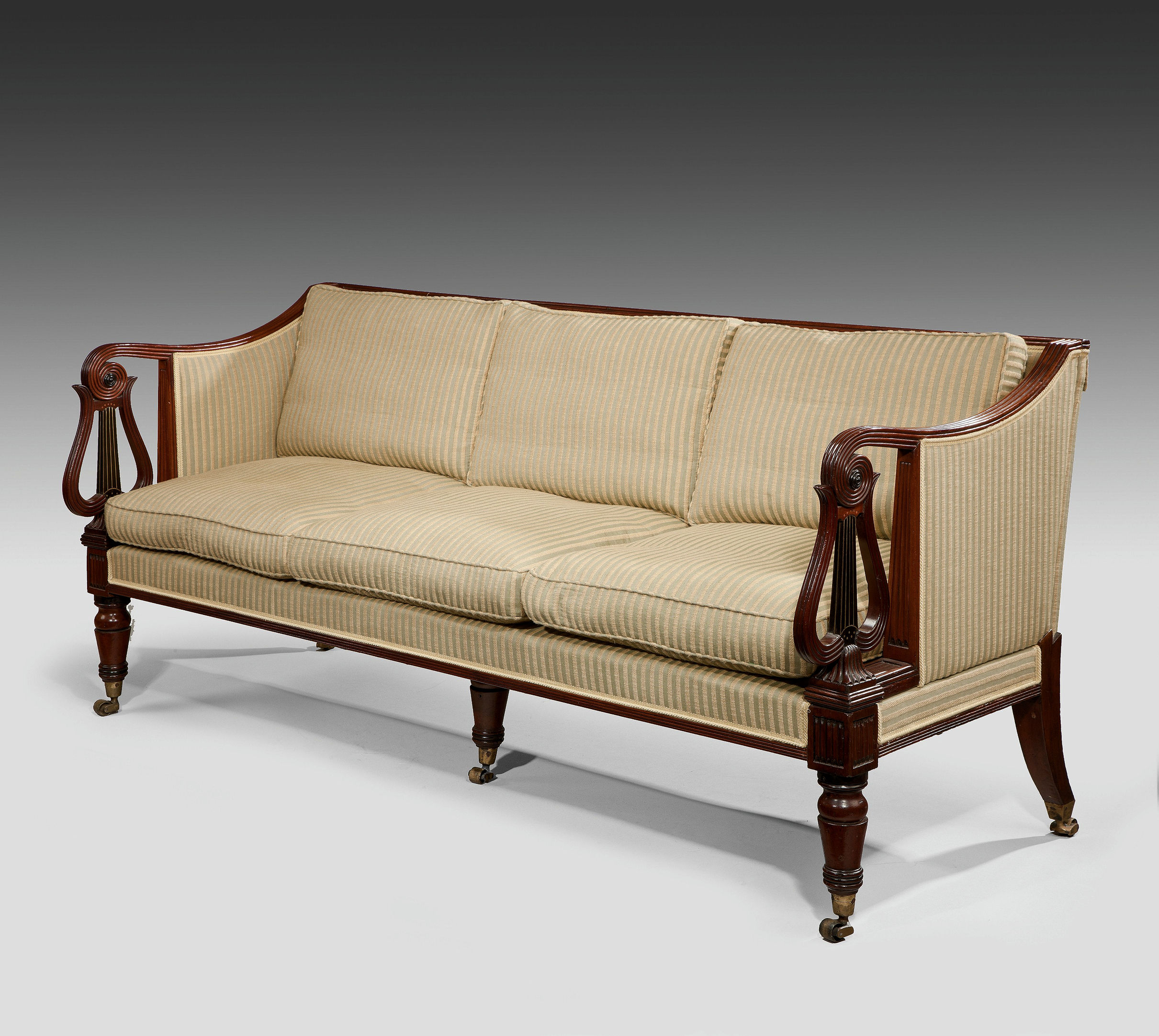 RARE ANTIQUE REGENCY CAMPAIGN SOFA BY MORGAN & SANDERS Richard