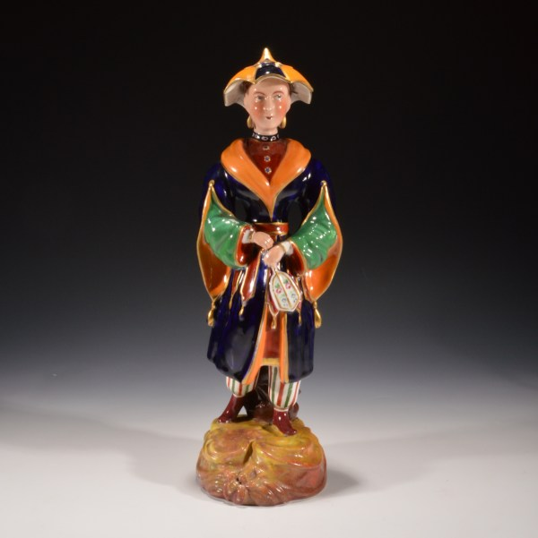 ANTIQUE DUDSON STAFFORDSHIRE FIGURE OF A CHINESE LADY
