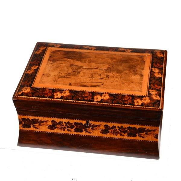 ANTIQUE EARLY 19TH CENTURY TUNBRIDGE WARE BOX