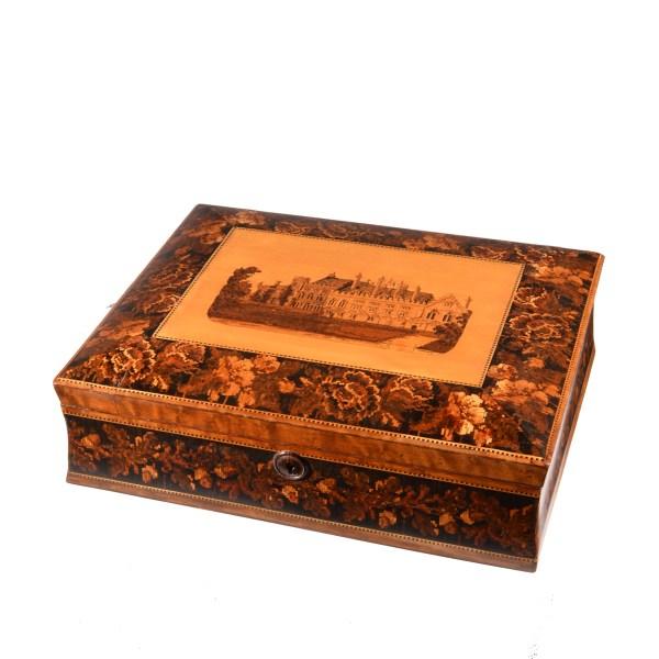 ANTIQUE TUNBRIDGE WARE GAMES BOX
