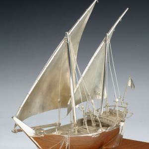SILVER MODEL OF AN ARAB DHOW