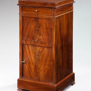 ANTIQUE FRENCH MAHOGANY BEDSIDE CABINET