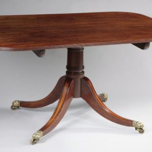 ANTIQUE MAHOGANY RECTANGULAR BREAKFAST TABLE