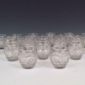 SET OF 18 ANTIQUE GLASS CUSTARD CUPS
