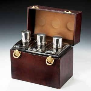 ANTIQUE DECANTER BOX BY DUPONT PARIS