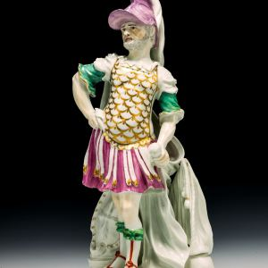 ANTIQUE DERBY PORCELAIN FIGURE OF MARS