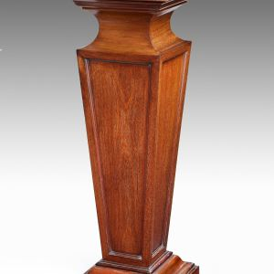ANTIQUE 19TH CENTURY MAHOGANY DISPLAY PEDESTAL