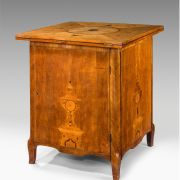 ANTIQUE 18TH CENTURY ENVELOPE TOP GAMES CABINET AND TABLE