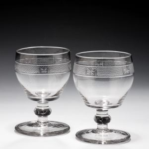 ANTIQUE PAIR OF GOBLETS