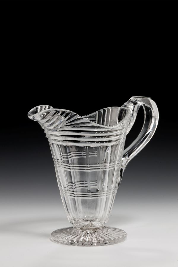 ANTIQUE GLASS MILK JUG