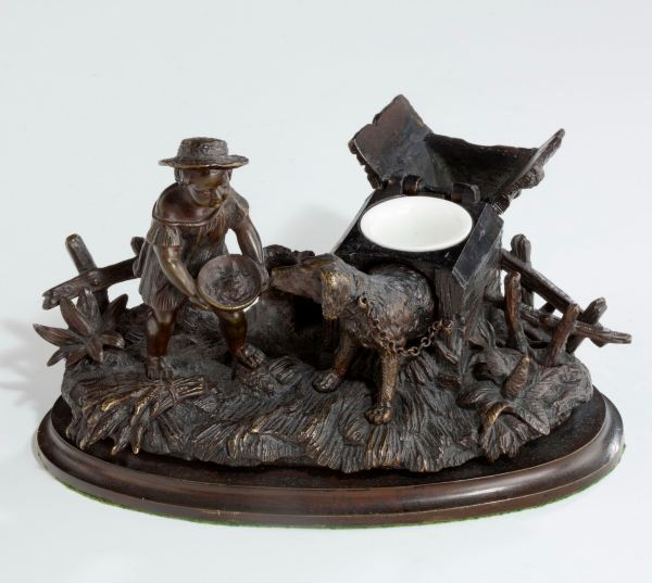 inkwell-bronze-child-feeding-dog-kennel-antique-f4403_1_4403