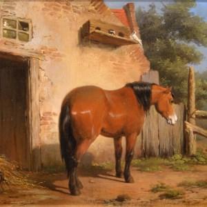 JEAN LOUIS VAN KUYCK-OIL PAINTING-HORSE
