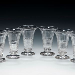 SET OF SIX ANTIQUE JELLY GLASSES