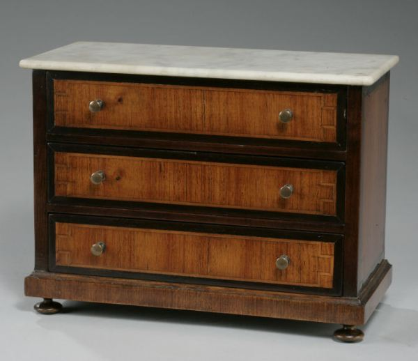 ANTIQUE FRENCH MINIATURE COMMODE