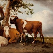 After PAULUS POTTER OIL PAINTING CATTLE