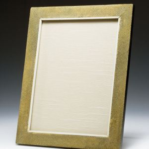 ANTIQUE RECTANGULAR SHAGREEN PHOTOGRAPH FRAME