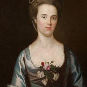 DECORATIVE 18TH CENTURY PORTRAIT PAINTING FEMALE