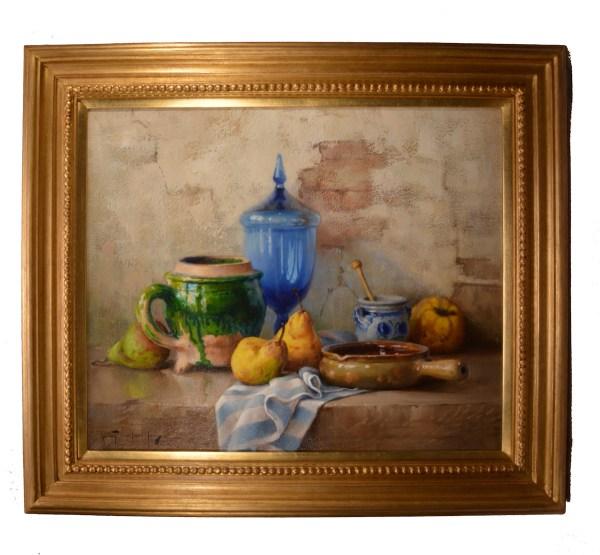 robert-chailloux-oil-painting-blue-vase-still-life-